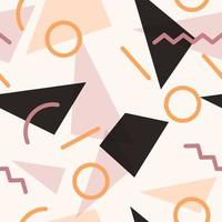 Geometric Memphis Shapes Seamless Pattern vector