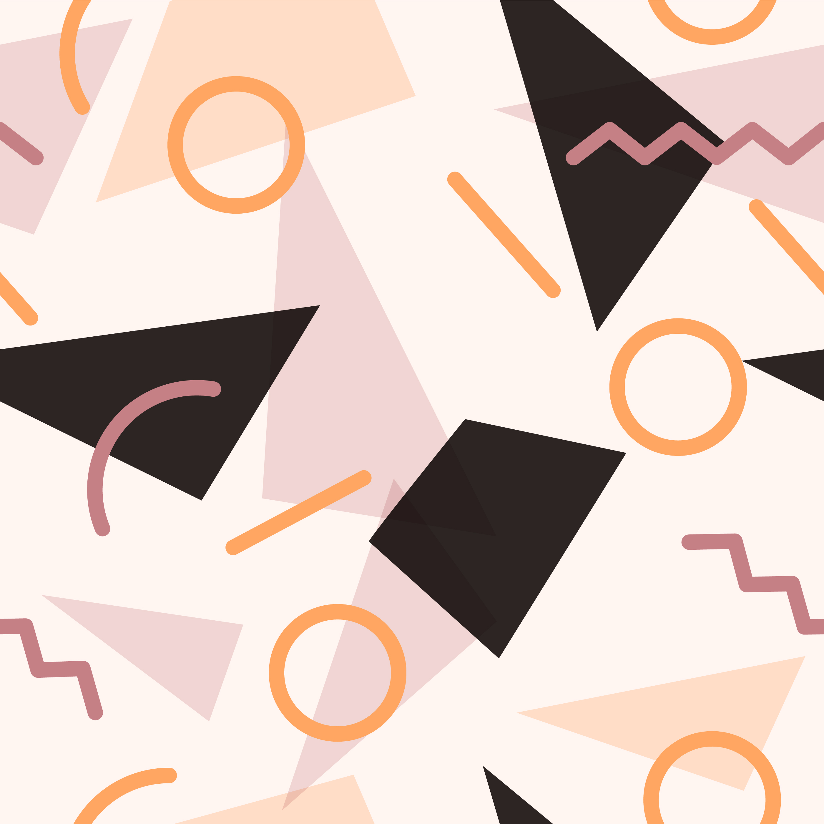 Geometric Memphis Shapes Seamless Pattern vector