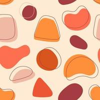 Colorful Organic Shapes Seamless Pattern vector