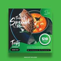 Colorful Green Food Social Media Banner vector