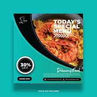Delicious And Colorful Food Banner For Social Media vector