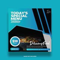 Delicious Restaurant Menu Social Media Banner vector