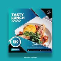 Tasty Lunch Food Social Media Banner vector