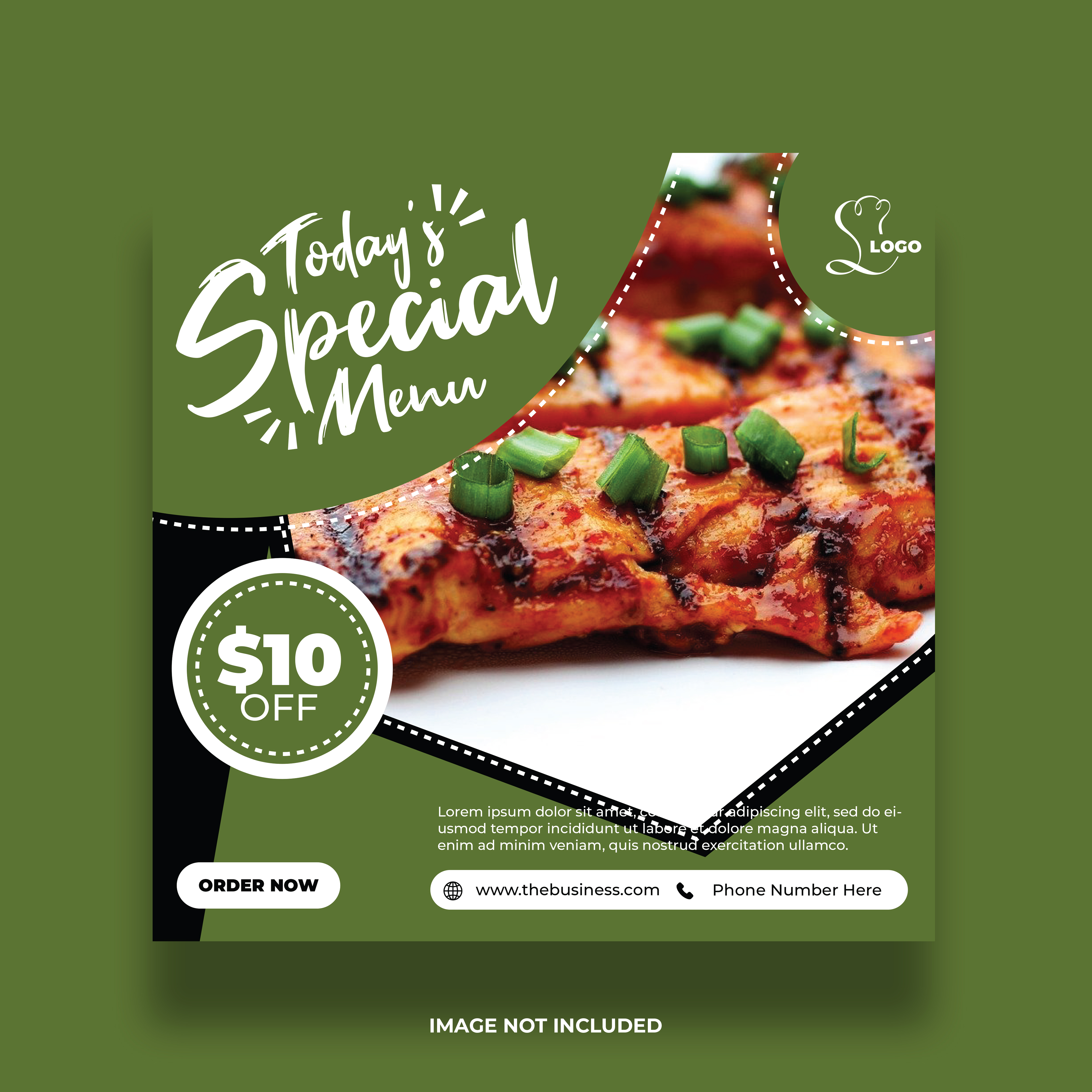 Green Special Menu Social Media Premium Post