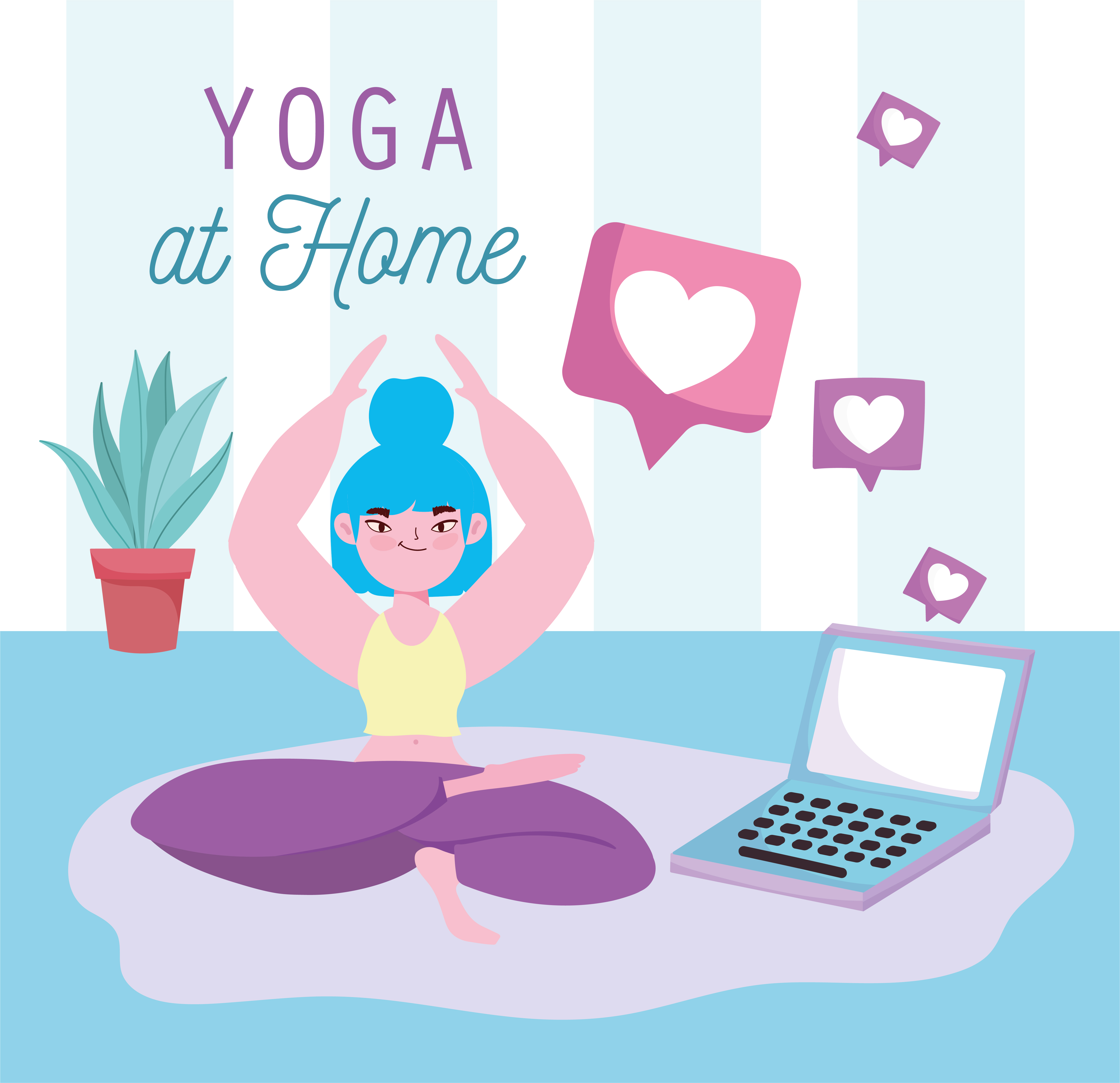 práctica de yoga online