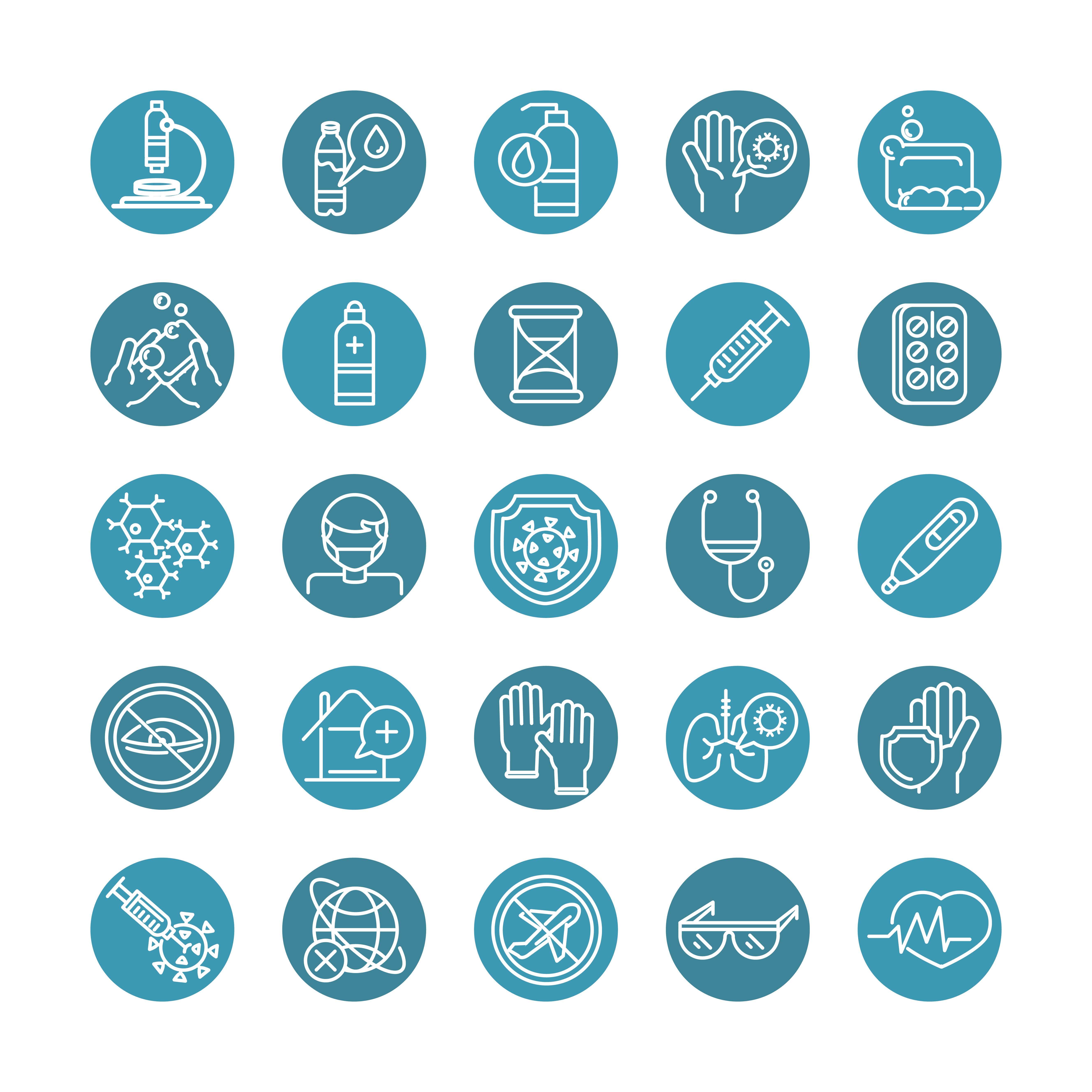 Medical related icon set