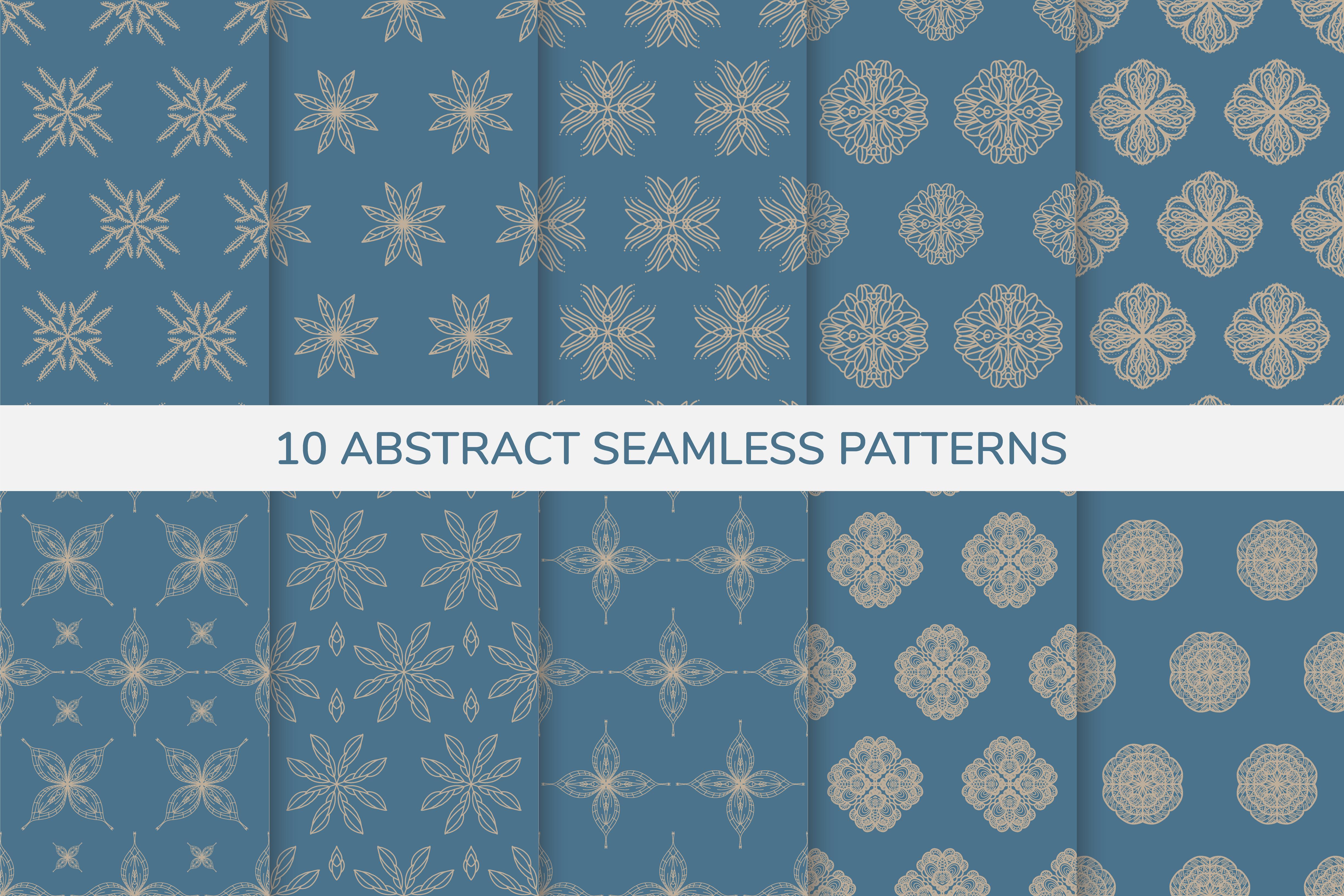 patrones sin fisuras ornamentales azules y dorados