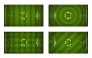 Set of football fields with different patterns vector