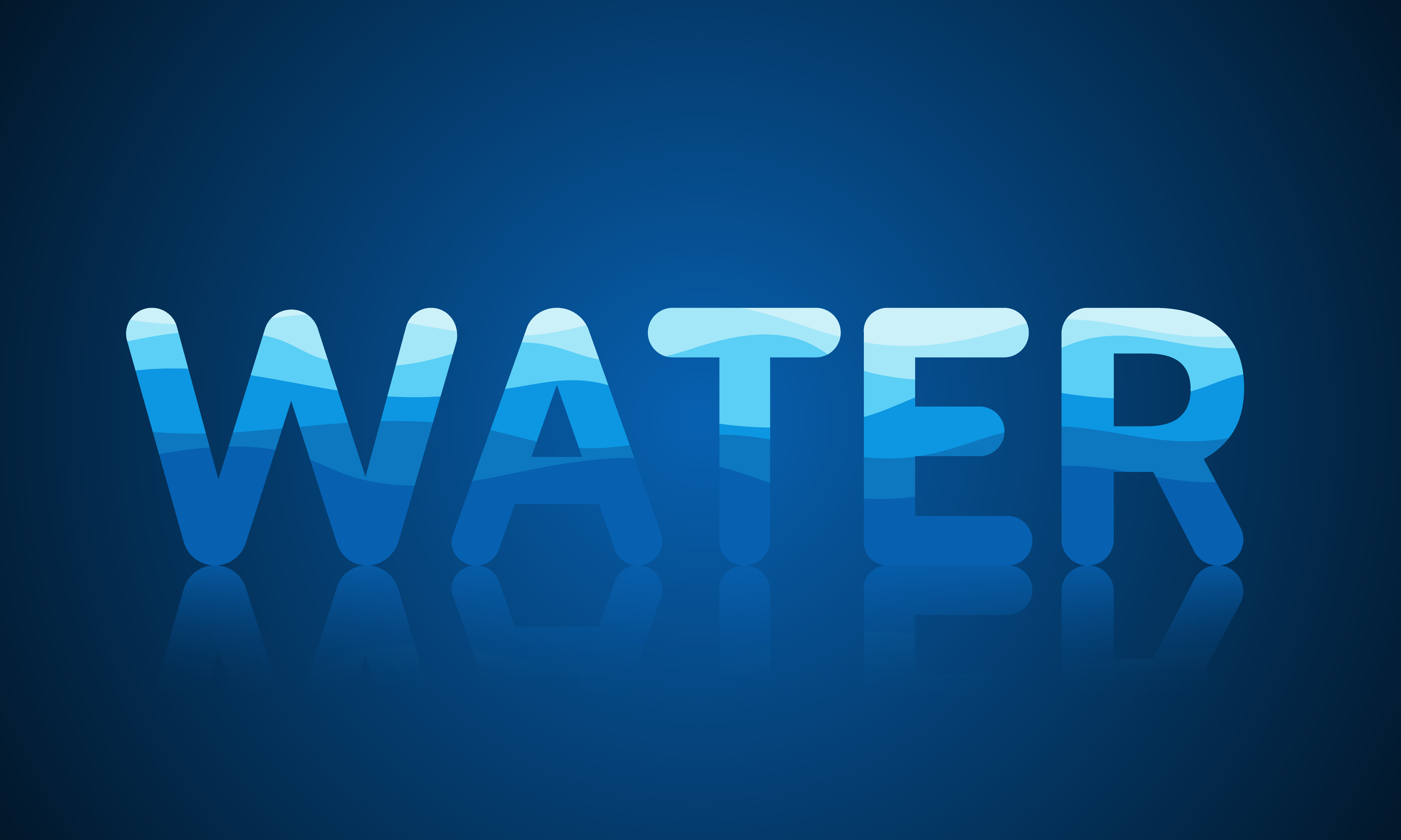 Reflective Water Pattern Text for World Water Day