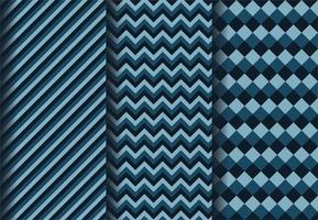 patrones geométricos azul oscuro vector