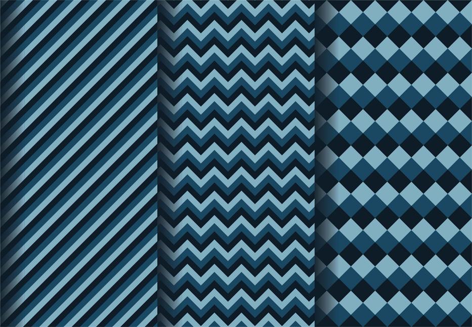Geometric dark blue patterns