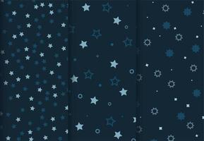 Blue star patterns vector