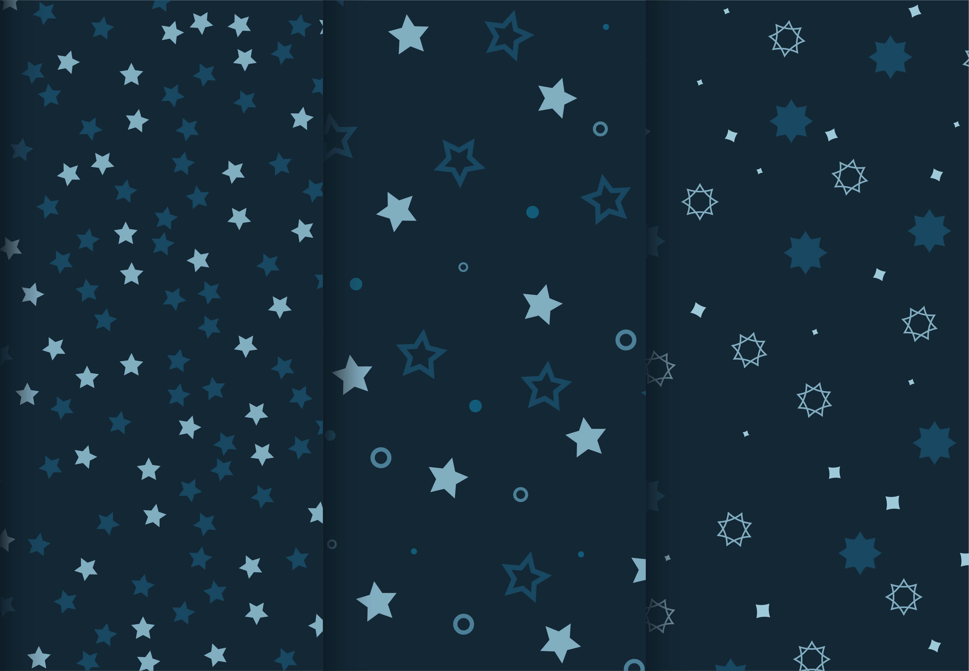 Blue star patterns