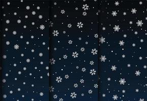 Dark blue gradient snowfall patterns  vector