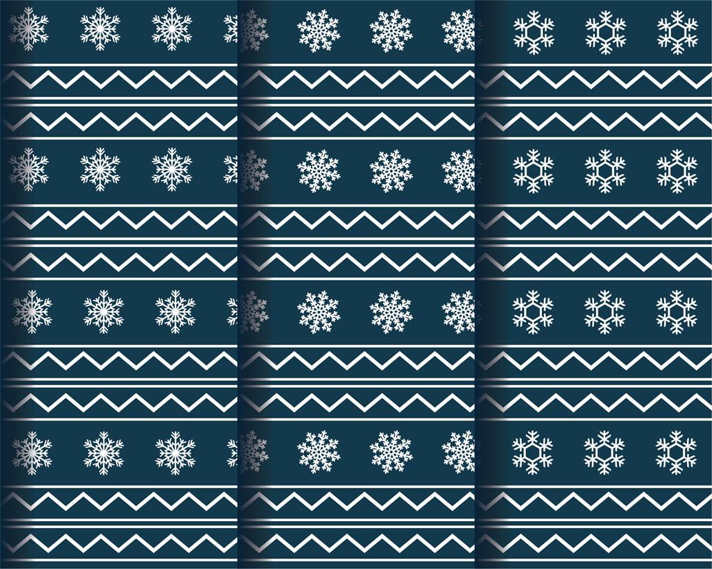 Fabric winter patterns vector