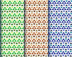 Colorful triangle ethnic patterns vector