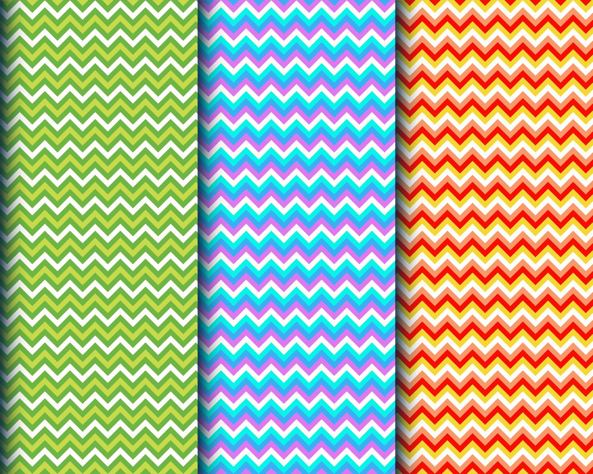 Colorful geometric stripe patterns vector
