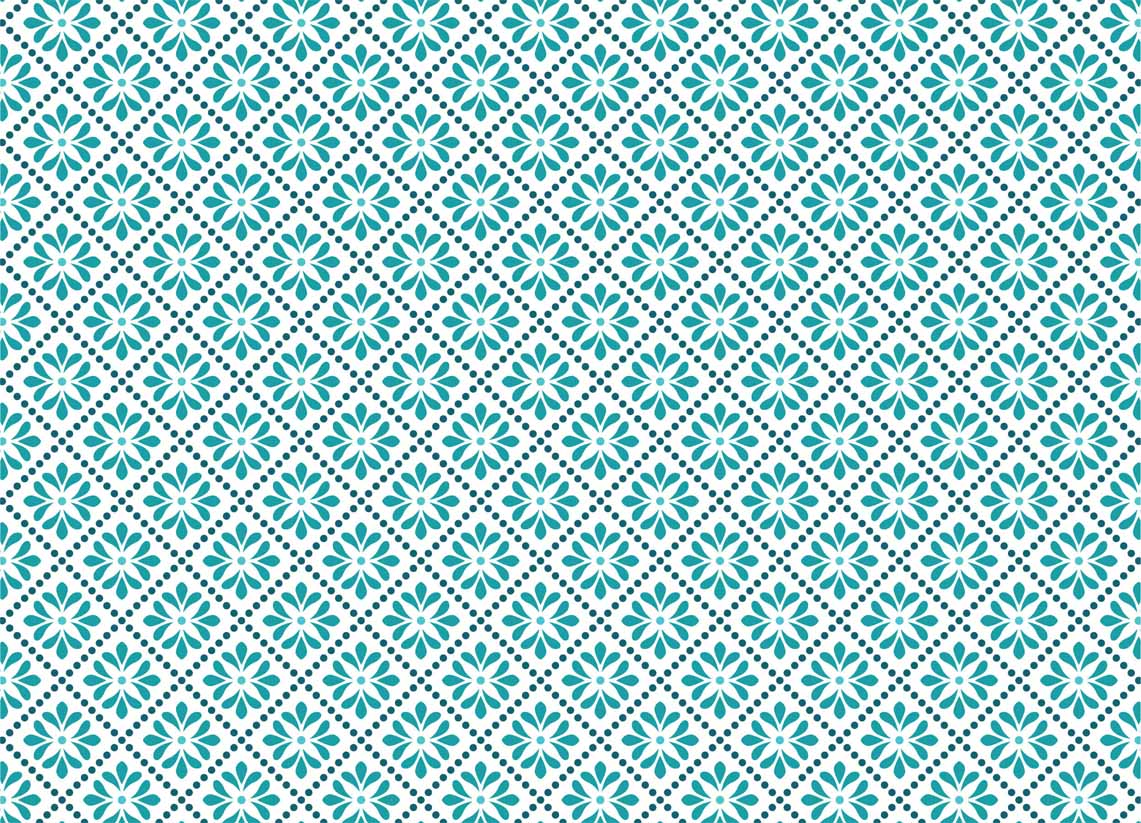 Seamless floral and dots pattern vector