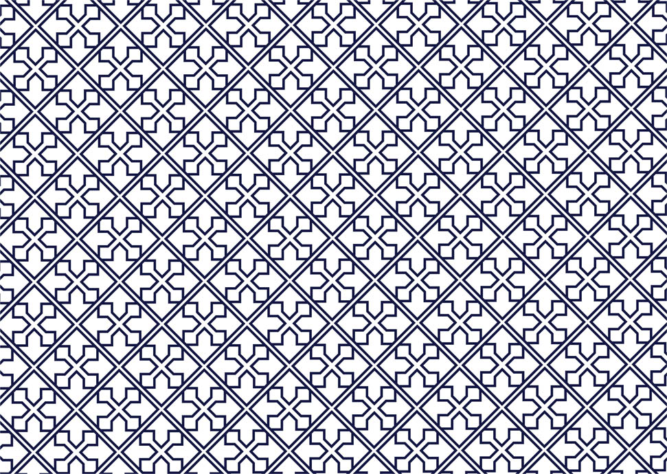 Navy and white geometric line pattern