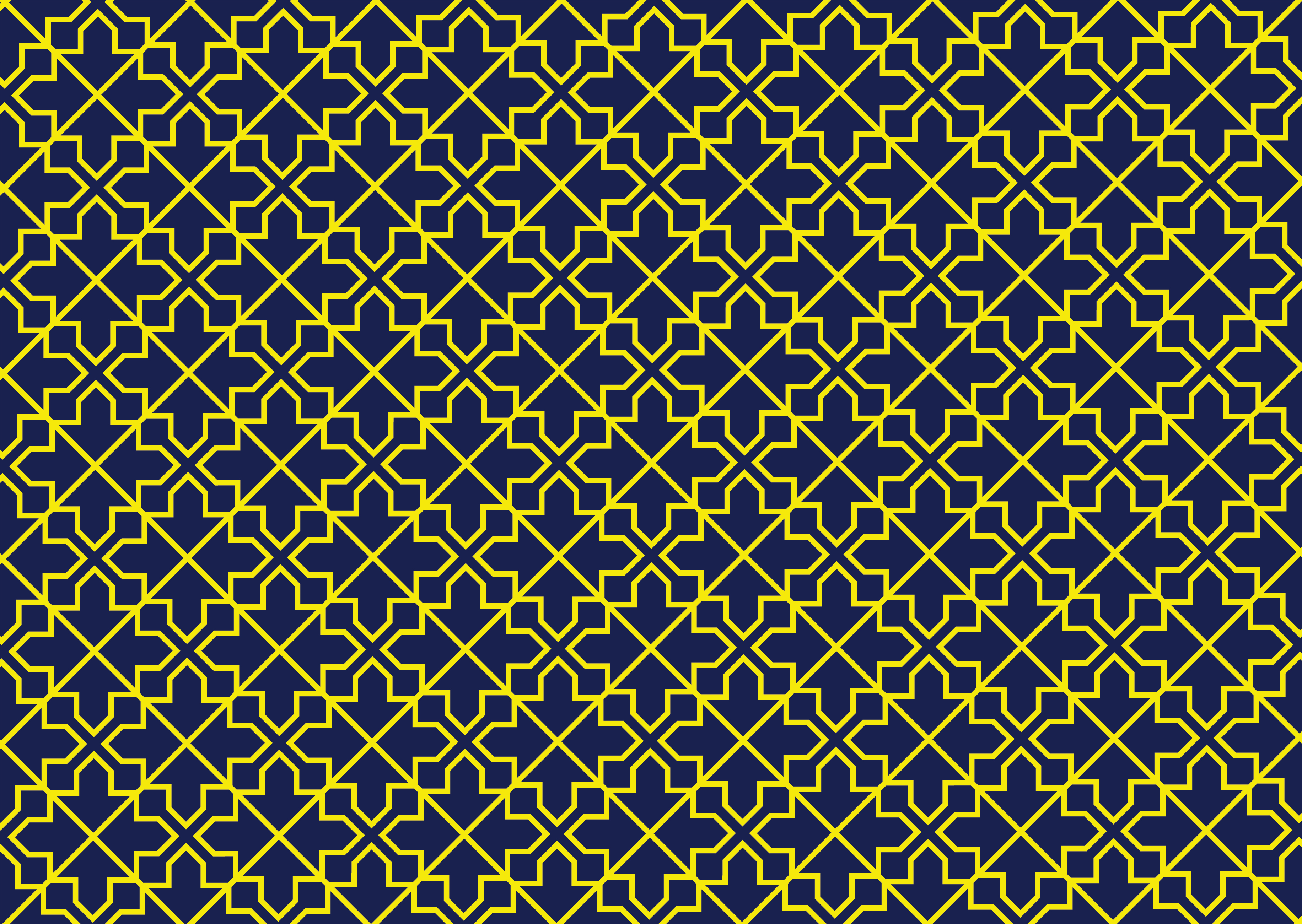 Yellow and navy geometric line pattern