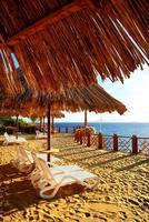 decoración de playa en hotel de lujo. foto