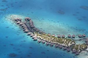 vista aérea de polinesia foto