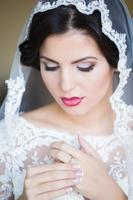 Sensual young bride photo