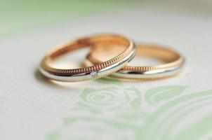 Wedding bands related to romance and wedding
