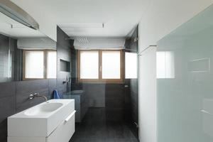 Interior house, modern bathroom
