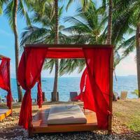 Romantic gazebo lounge