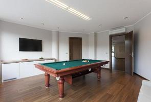 Pool room with tv
