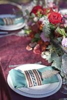 wedding table setup photo