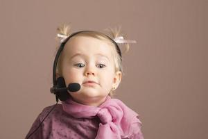 Funny baby on the phone