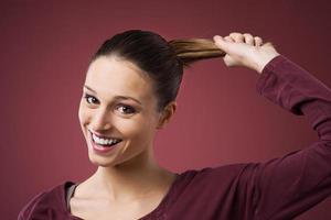 cabello fuerte y saludable foto