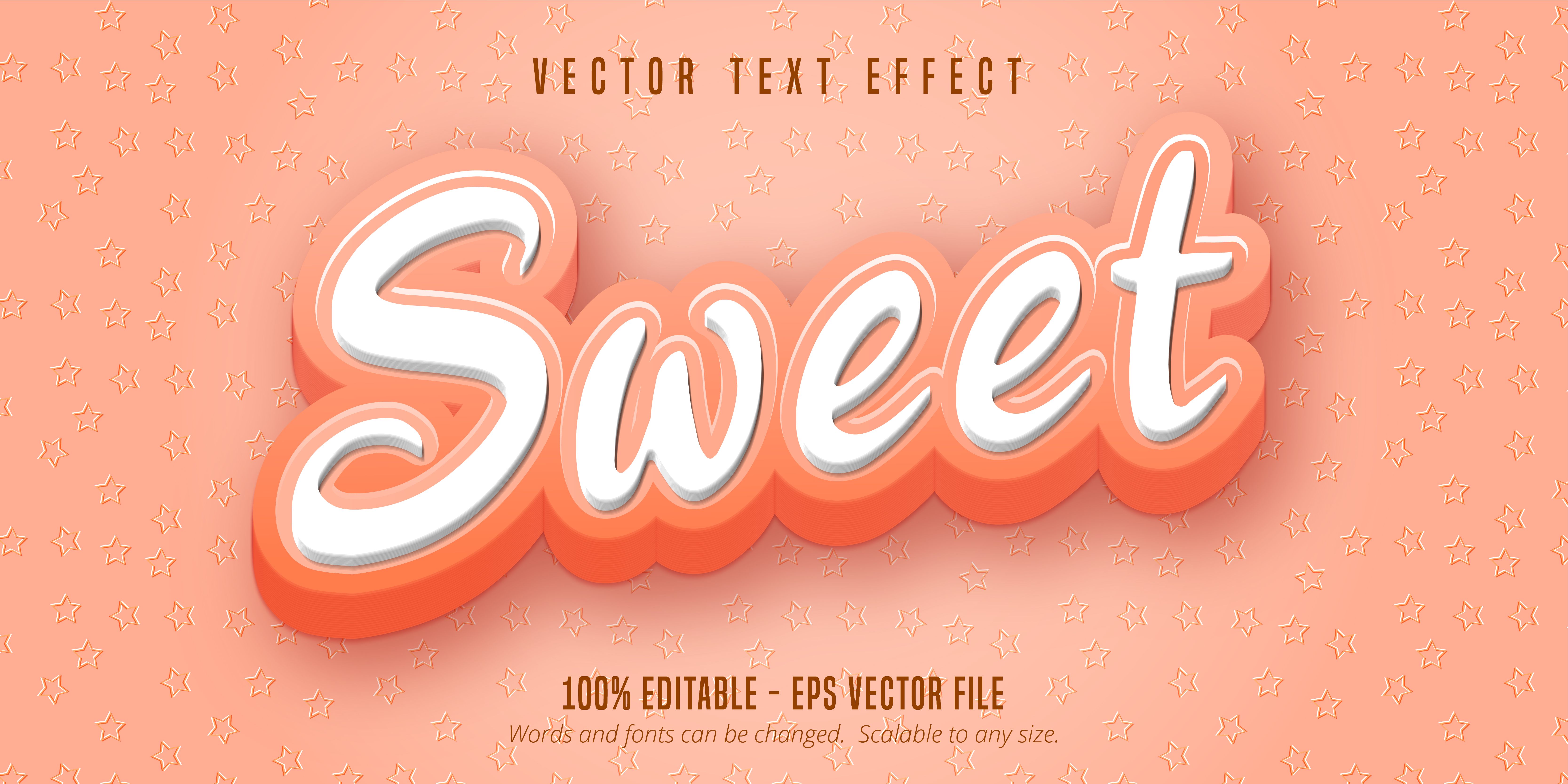 Sweet Pink Text, Cartoon Style Text Effect