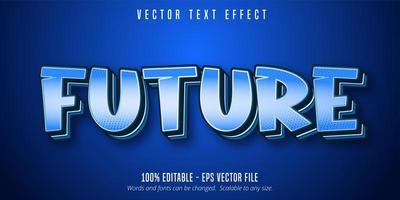 texto futuro, efecto de texto de estilo pop art. vector