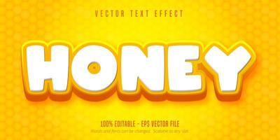 Honey Text, Cartoon Style Text Effect vector