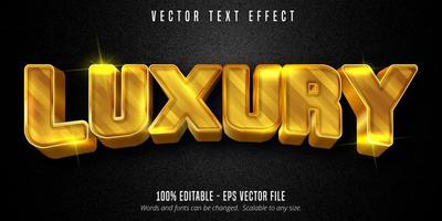 Luxury Text, Shiny Golden Style Text Effect vector