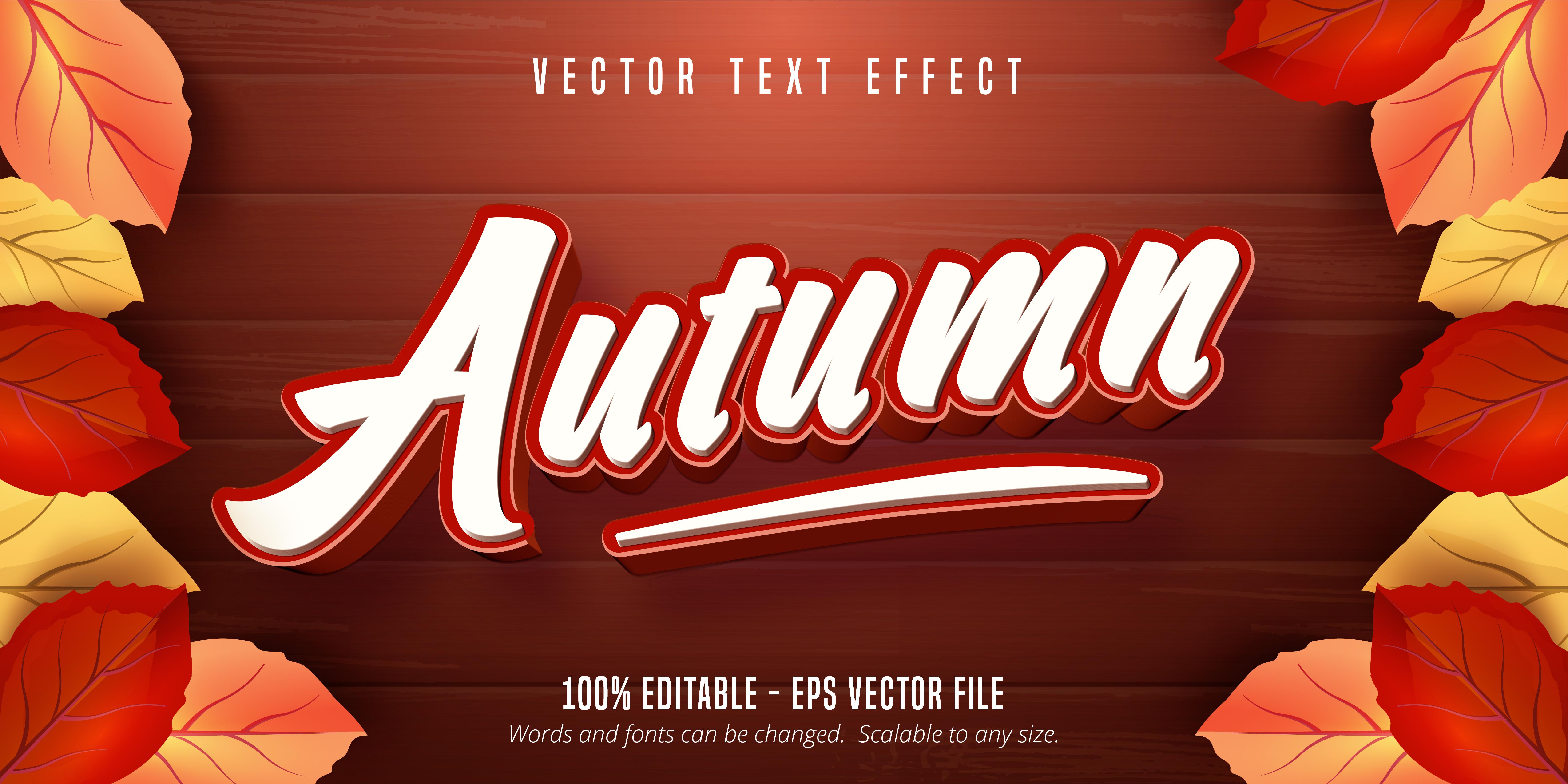 Autumn Text Effect on Wooden Texture