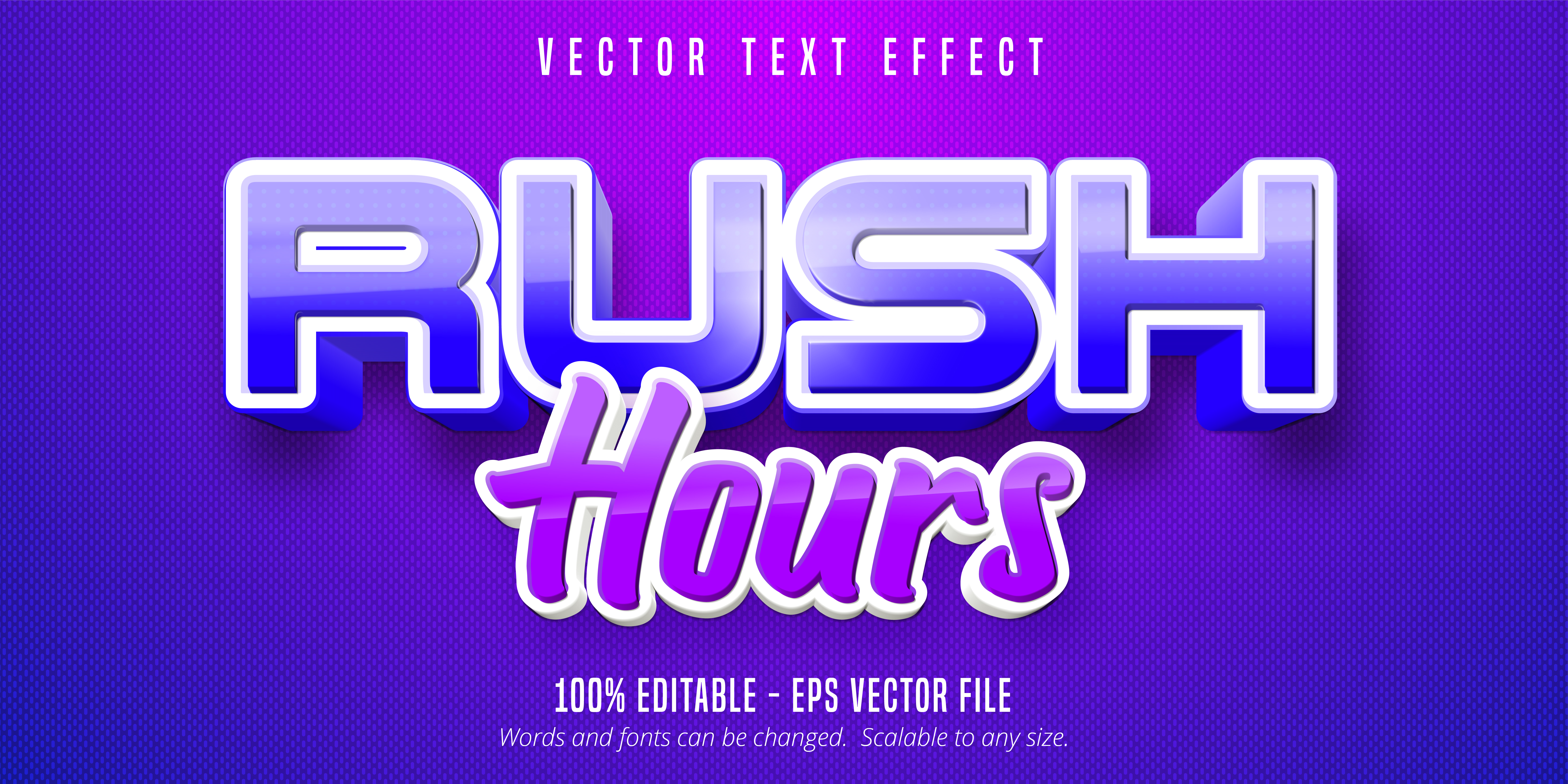 Rush Hours Text, Game Style Text Effect