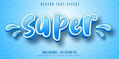 Super Text, Cartoon Style Text Effect vector