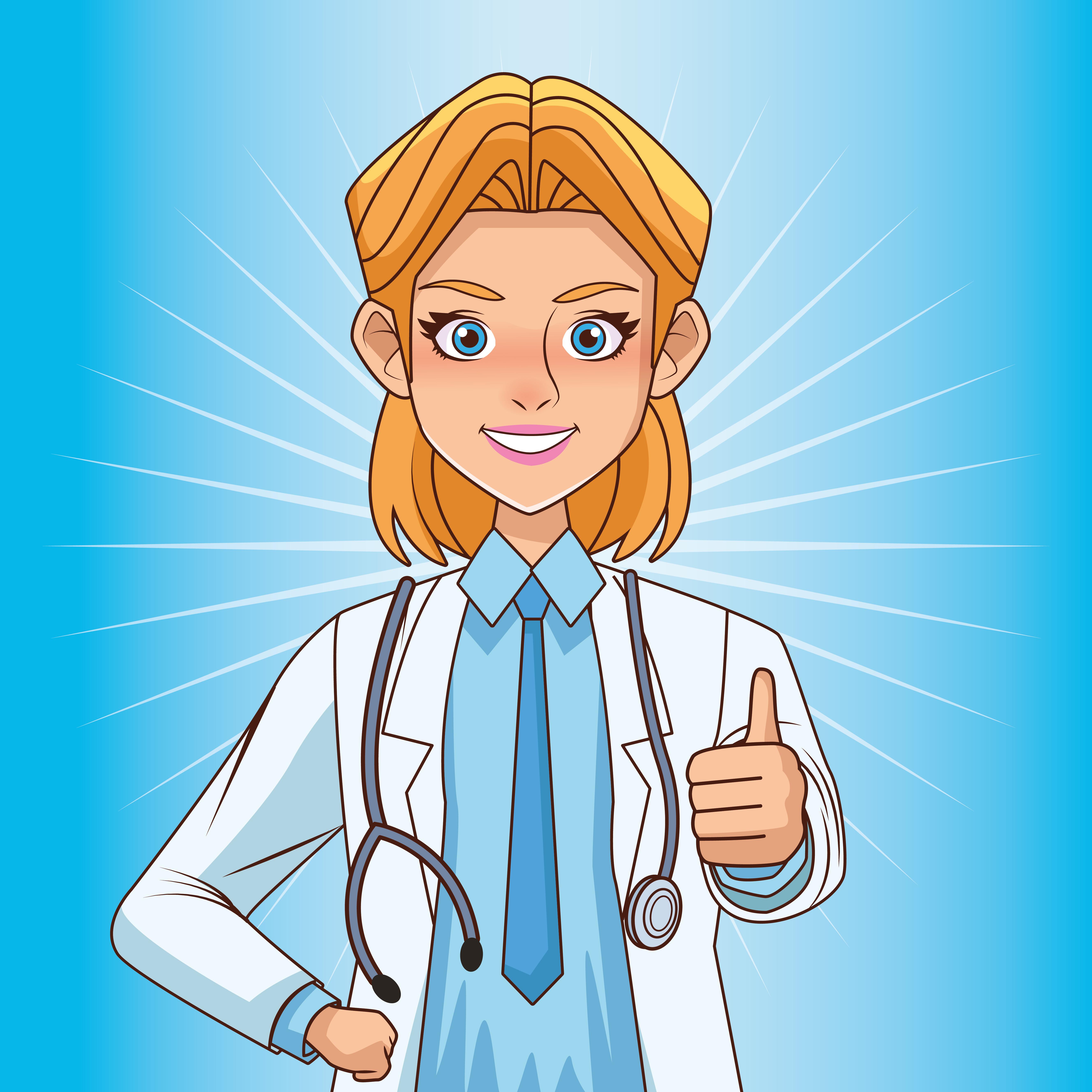 linda médica com estetoscópio
