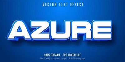 Azure Text, Blue Color Text Effect vector