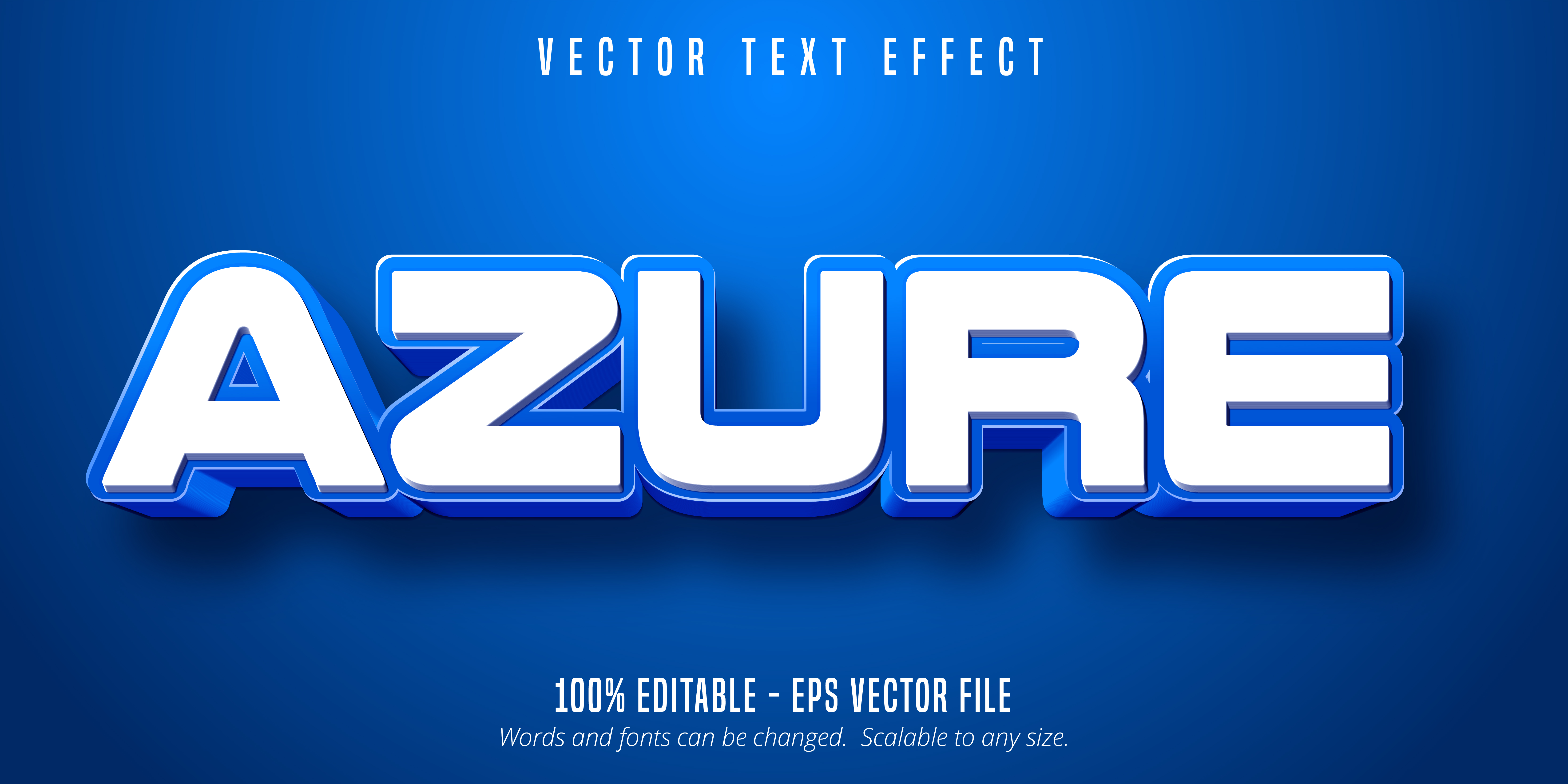 Azure Text, Blue Color Text Effect