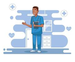 Professional surgeon doctor character vector