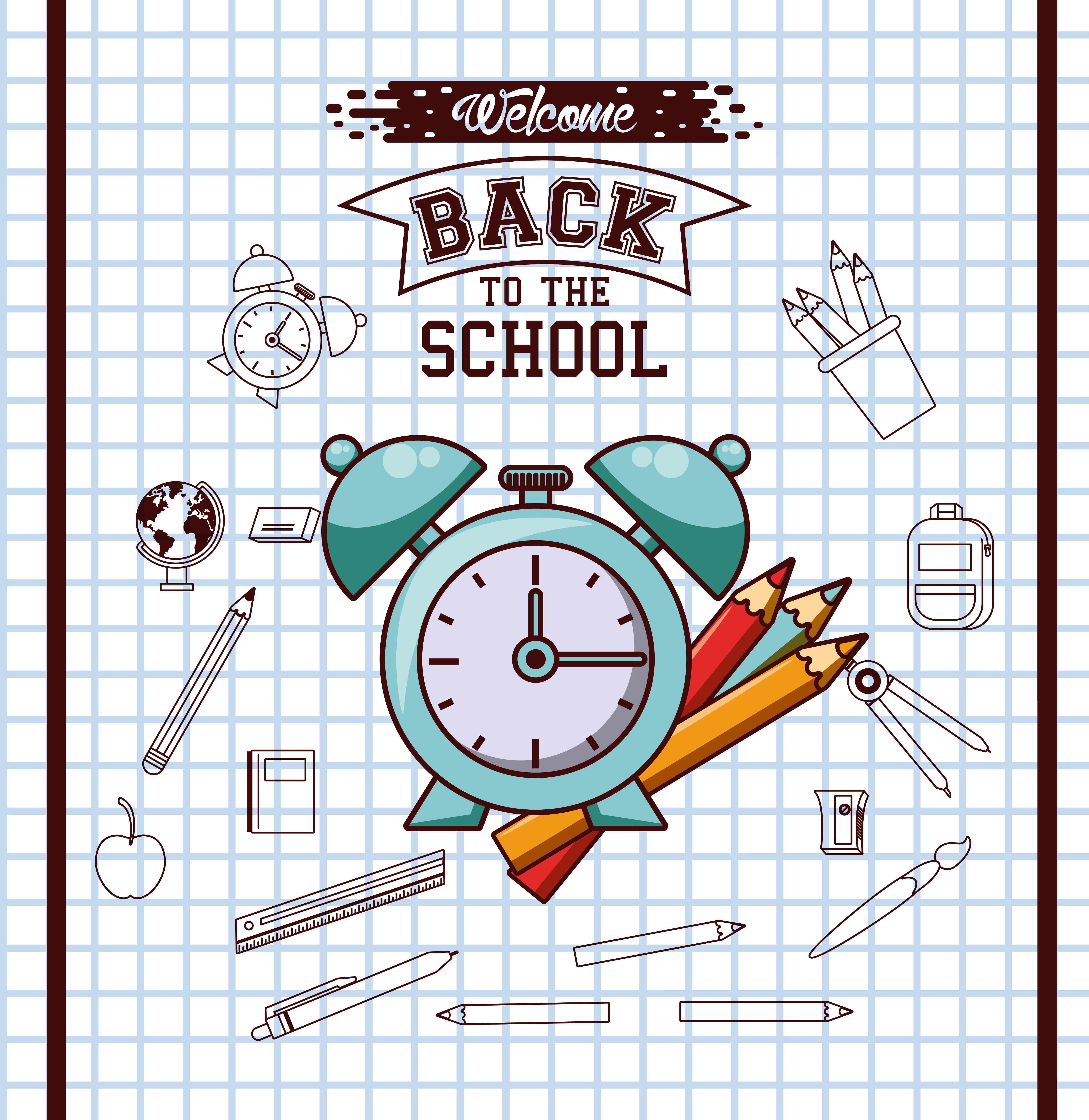 Back to school season poster