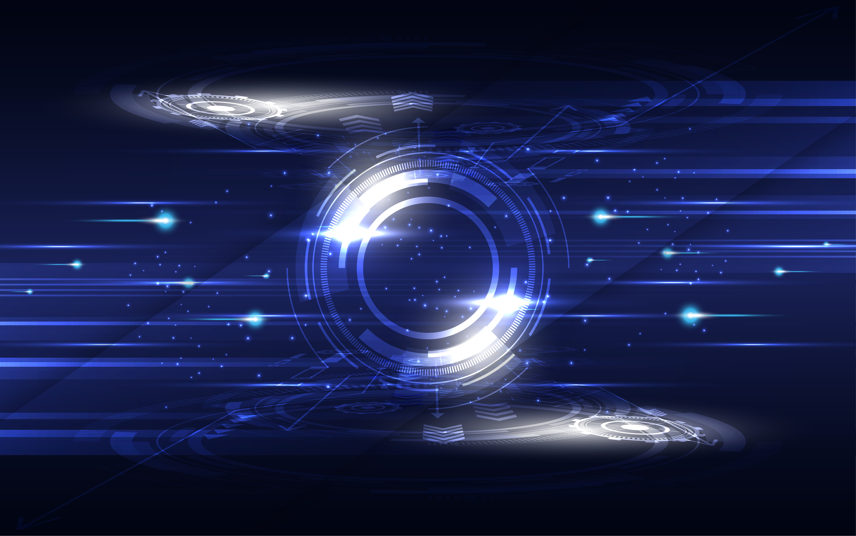 concepto de comunicación de alta tecnología azul y blanco brillante