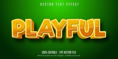 Glossy golden Playful comic style editable text effect vector