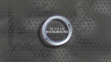 Metallic circle holes on grunge charcoal, chalkboard texture vector