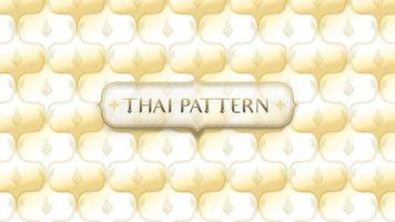 Abstract golden traditional Thai pattern with frame vector